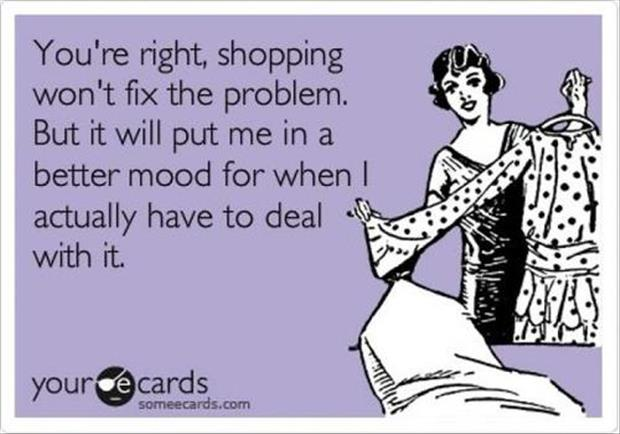 shopping fixes everything