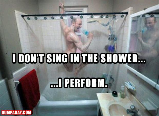 sing in the shower funny pictures