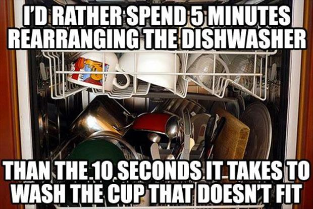 stacking the dishwasher funny pictures