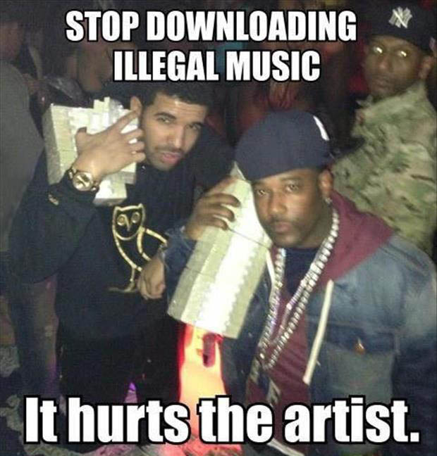 stop downloading music funny pictures