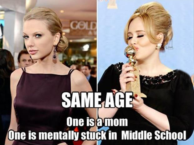 taylor swift and adele funny images