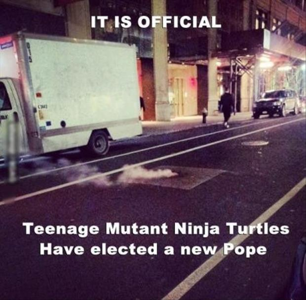 teenage mutant ninja turtles have declared themselves a new pope