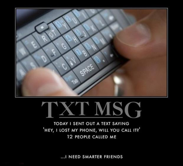 text messaging funny demotivational posters