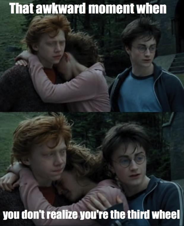 the awkward moment when harry potter