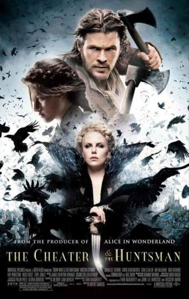 the cheater and the huntsman funny movie posters