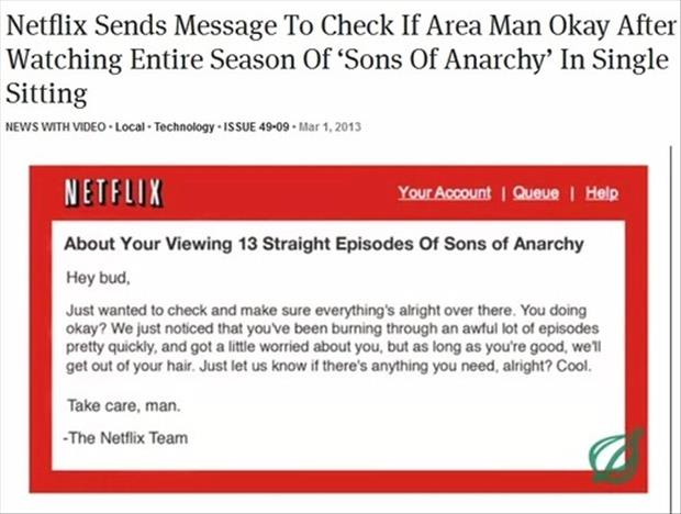 the netflix team sent a letter to some guy who watched a lot of episodes at once