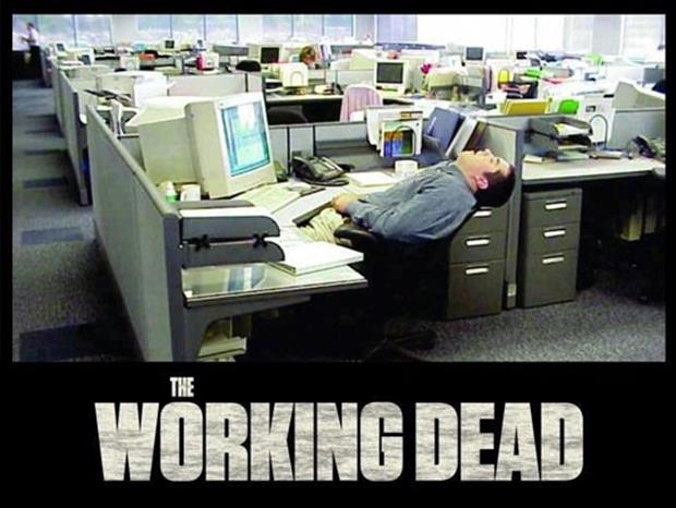 the walking dead funny work pictures