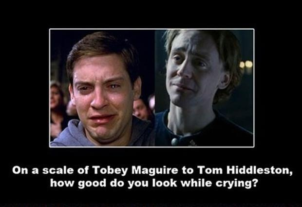 tobey maquire crying face