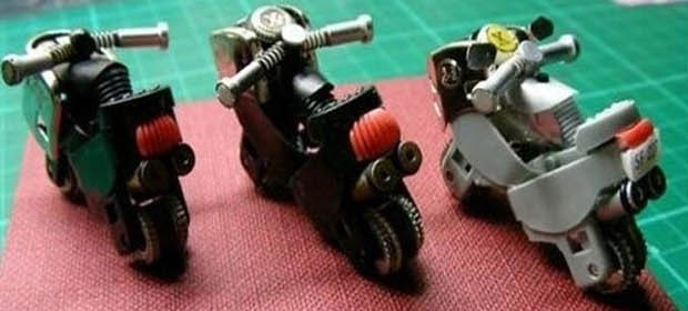 turn old lighters into mini motorcycles thumb