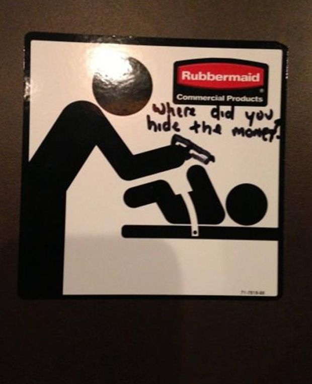 where do you hide the money funny signs