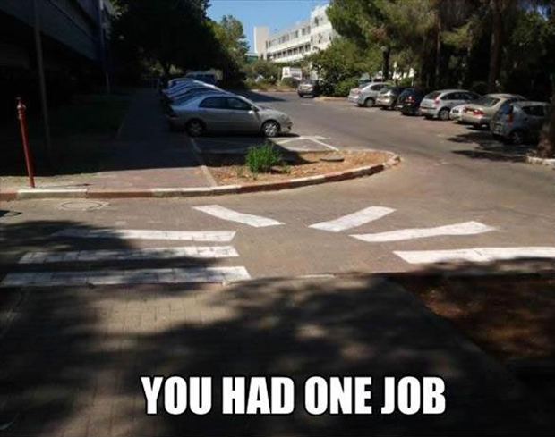 you had one job crosswalk