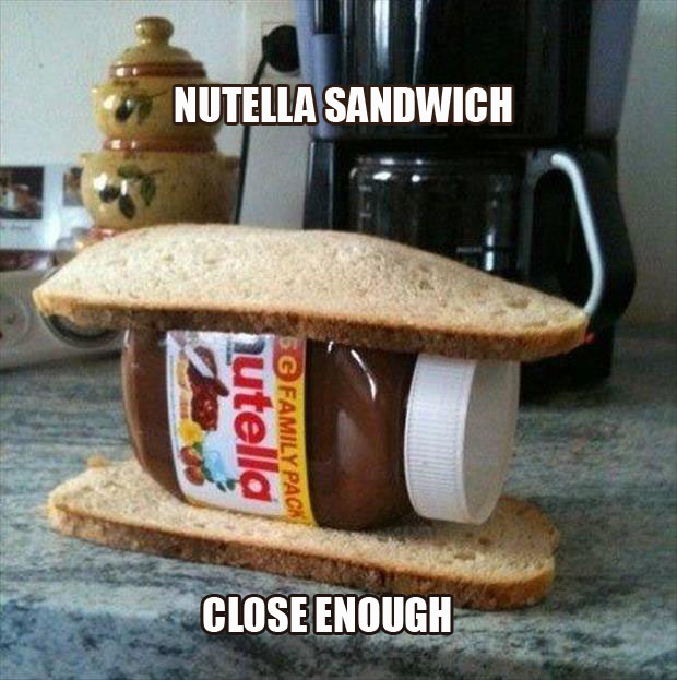 you're doing it wrong nutella