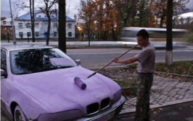 you're doing it wrong painting his car