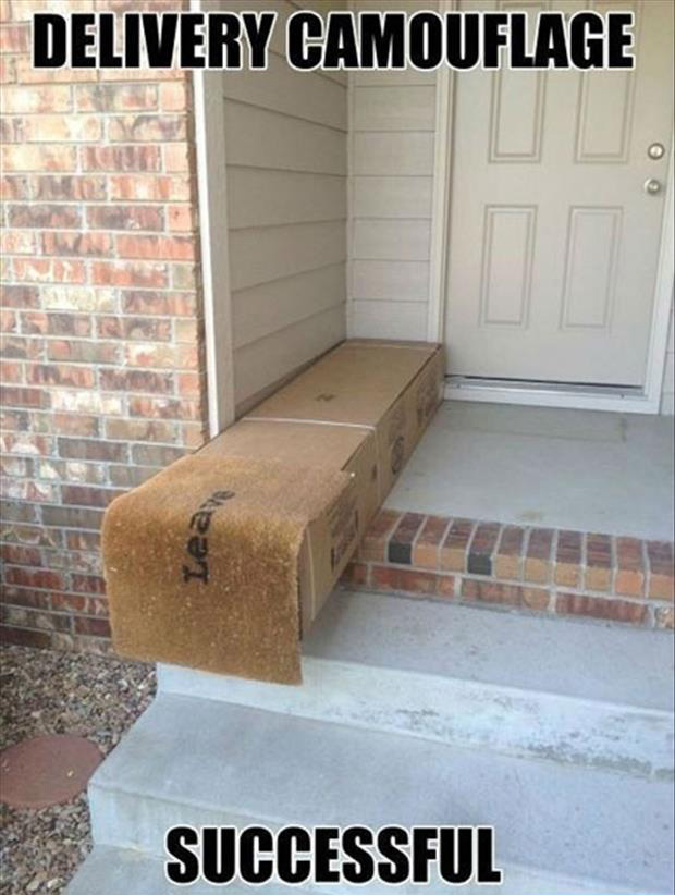 A ups driver hides my package