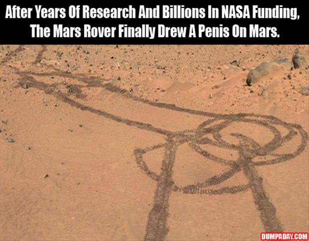 After Years Of Research And Billions In NASA Funding, We Finally Drew A Penis On Mars
