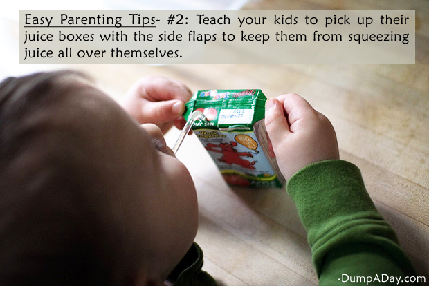 Easy Parenting Tips 2- Juice Boxes