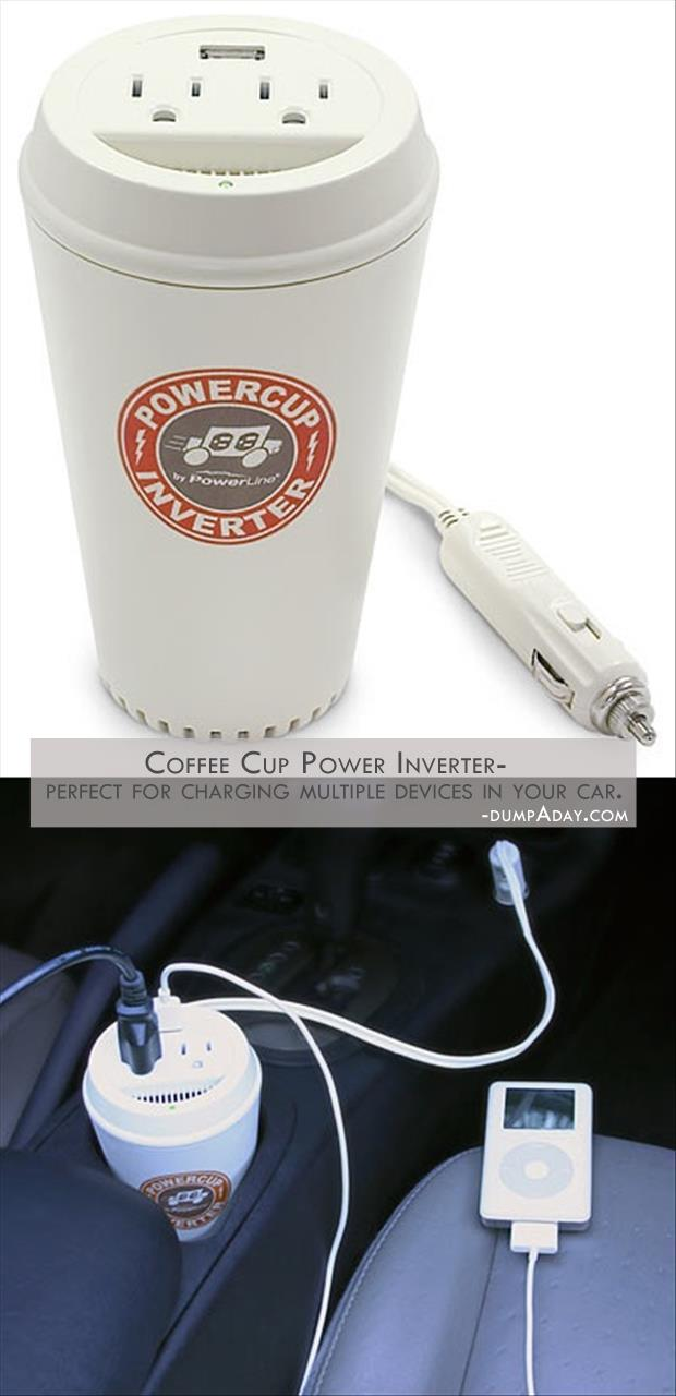 Geek Genius Ideas- Coffee Cup Power Inverter