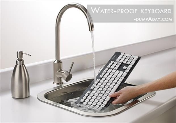 Geek Genius Ideas- Waterproof Keyboard