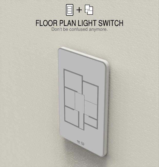 Geek Genius Ideas- floor plan light switch