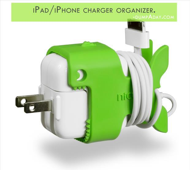 Geek Genius Ideas- iPad iPhone charger organizer