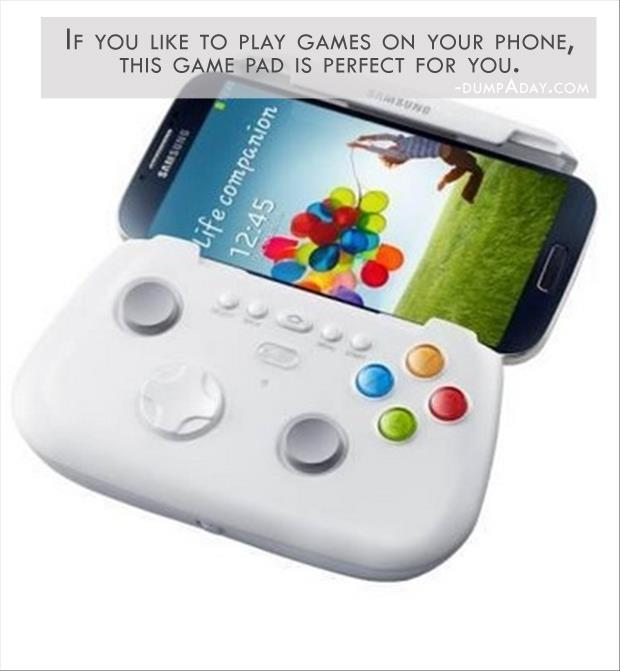 Geek Genius Ideas- if you like to play games on your phone, this game pad is perfect for you
