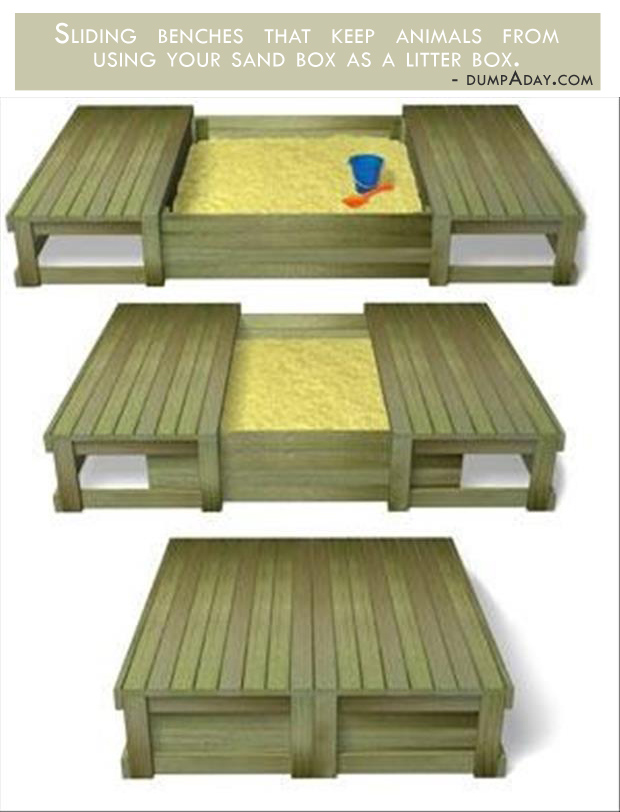 Genius Ideas- Covered sand box
