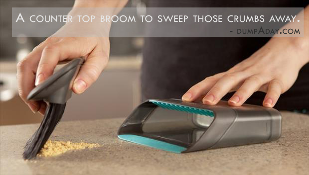 Genius Ideas- countertop broom