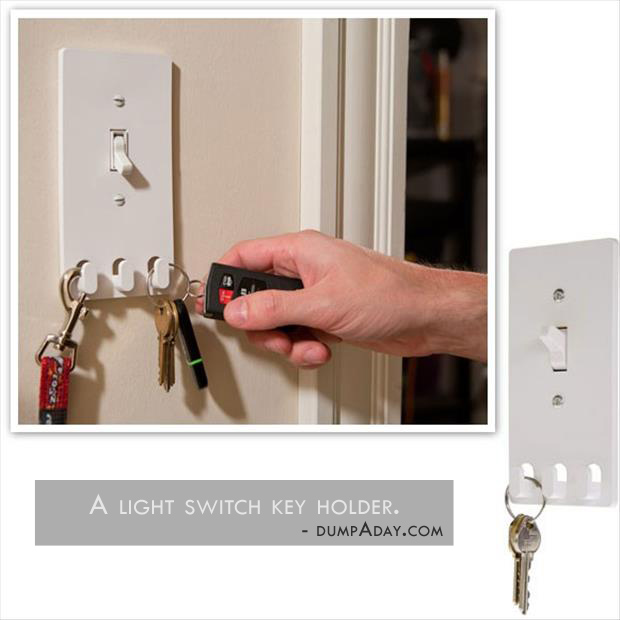 Genius Ideas- light switch key holder