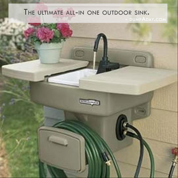 Genius Ideas- outdoor sink