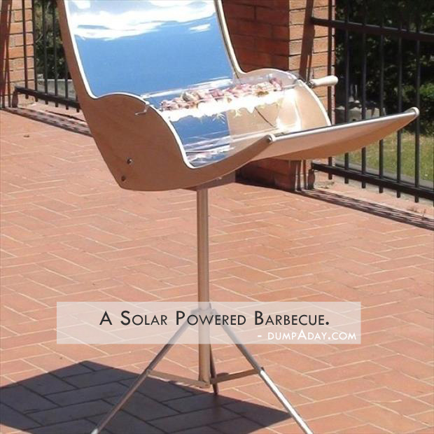 Genius Ideas- solor powered bbq