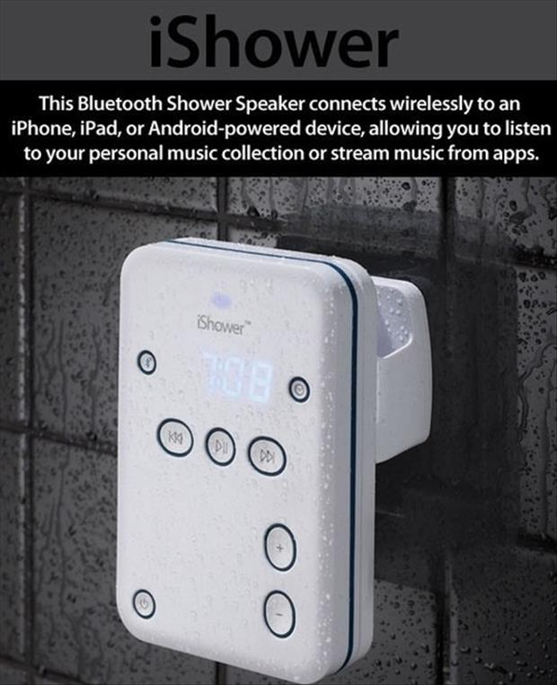 Genius Ideas- the blue tooth shower speaker