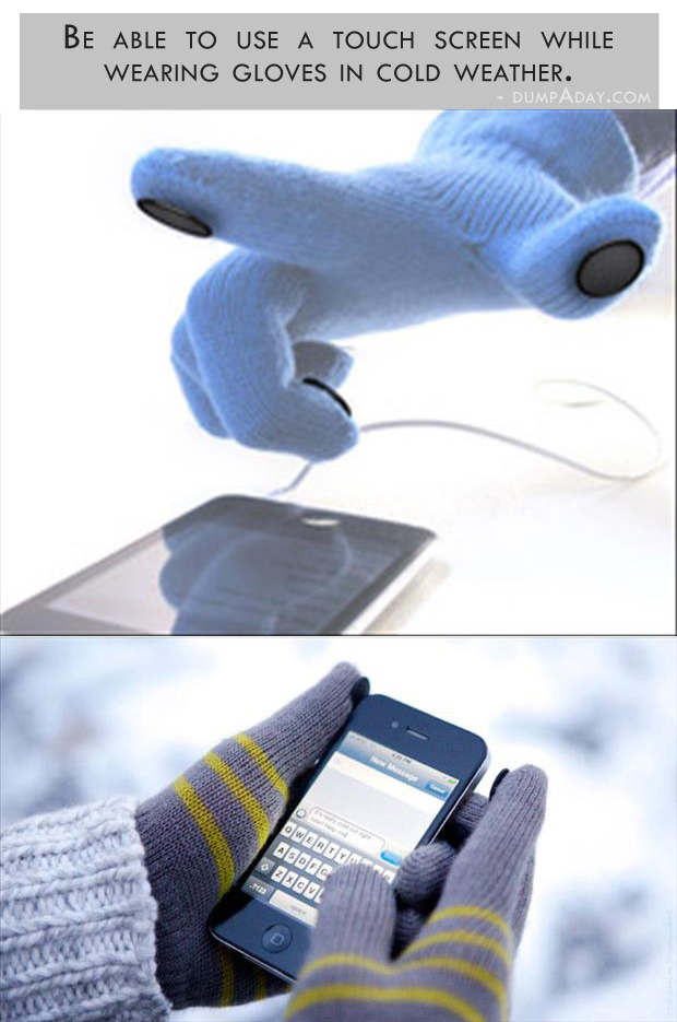 Genius Ideas- touch screen gloves