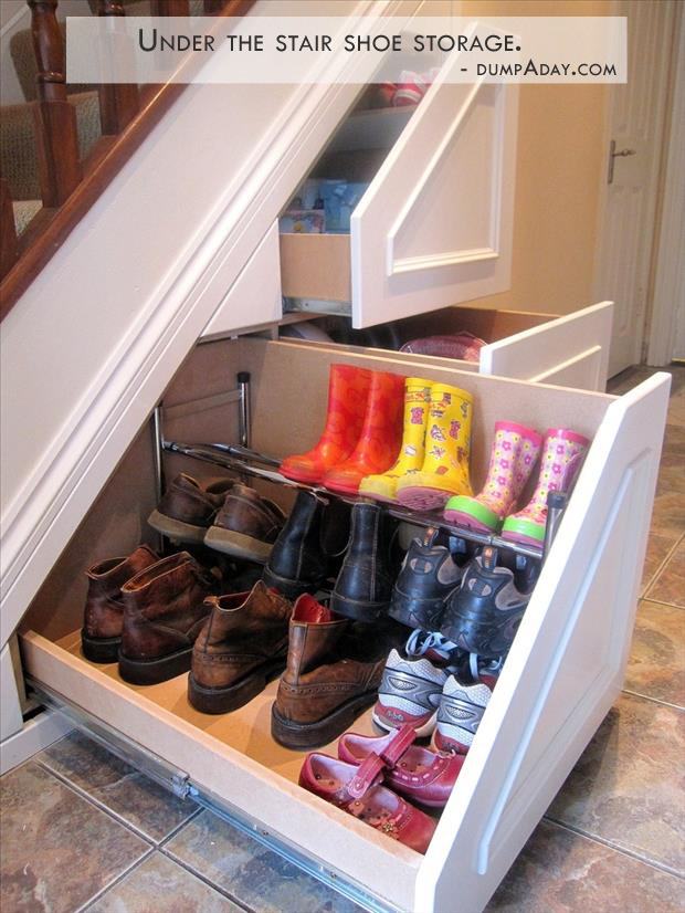 Genius Ideas- under the stair storage