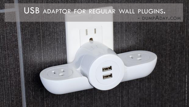 Genius Ideas- usb adaptor for regular plugin outlets