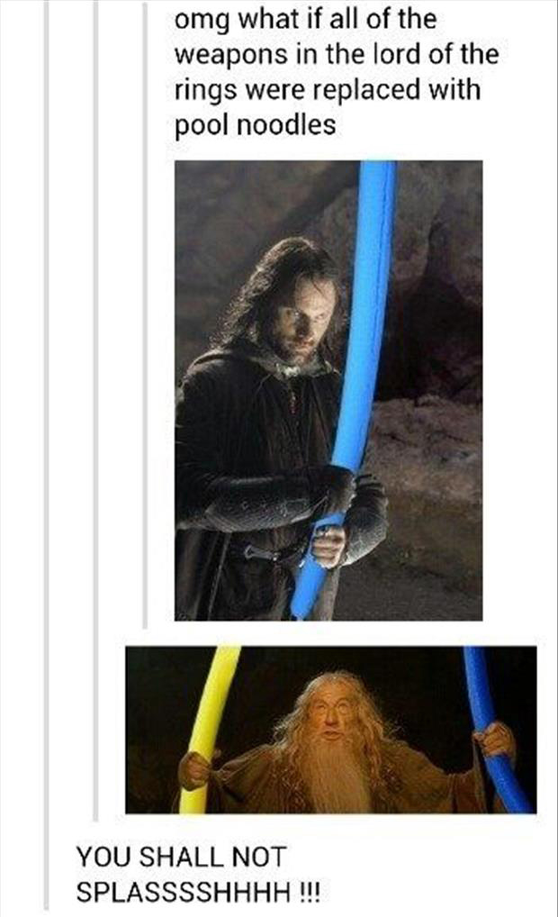 Pool noodles funny lord of the rings pictures