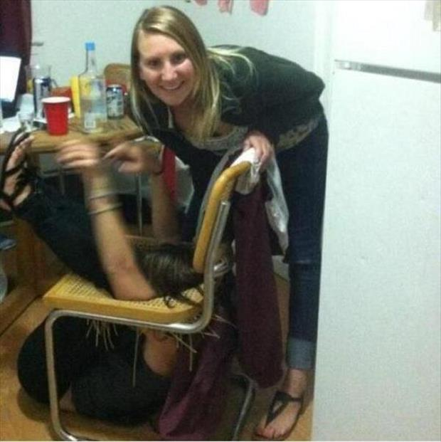 a chair fail funny images