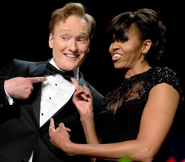 a conan obrien and michelle obama
