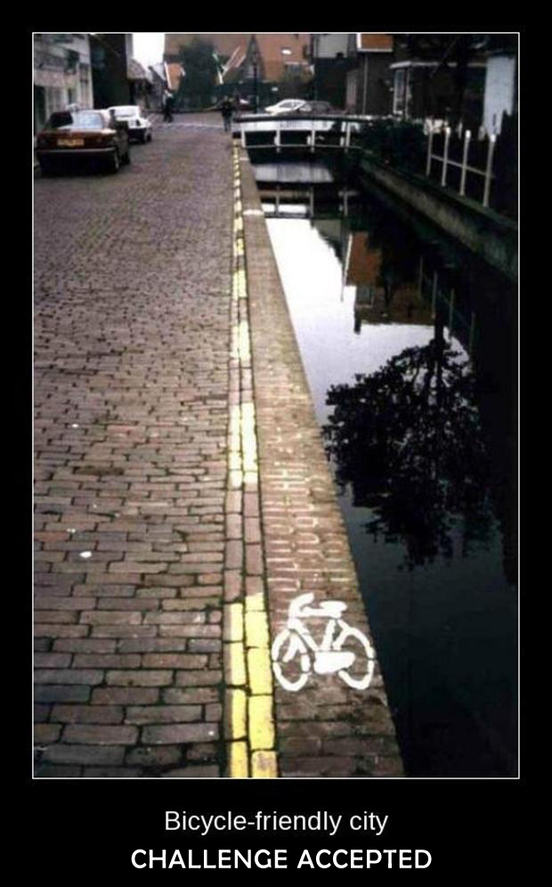 challenge accepted, bicycle lane