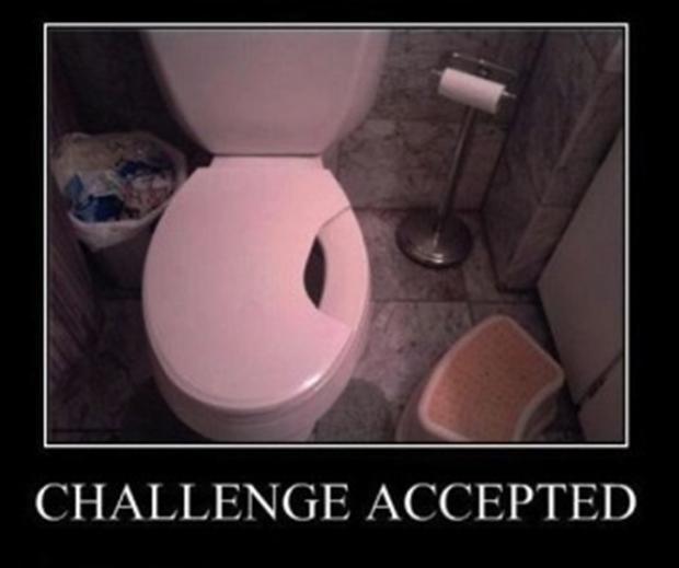 challenge accepted, funny pee in the toilet