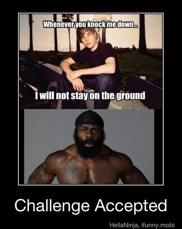 challenge accepted, justin beiber