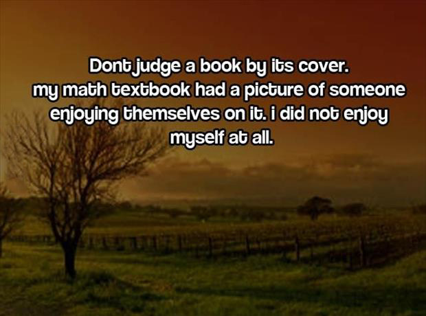 don't judge  book by its cover