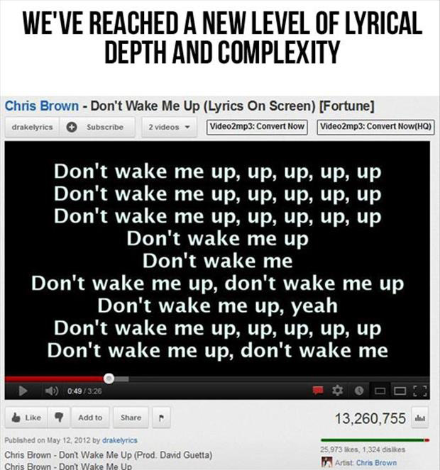don't wake me up song lyrics