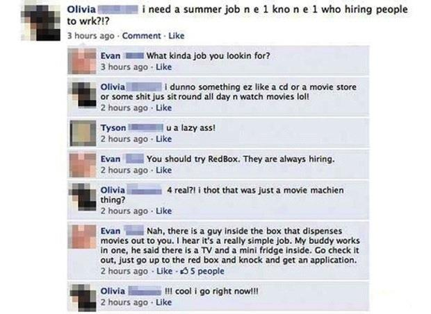 The Dumbest Facebook Status Updates Of All Time