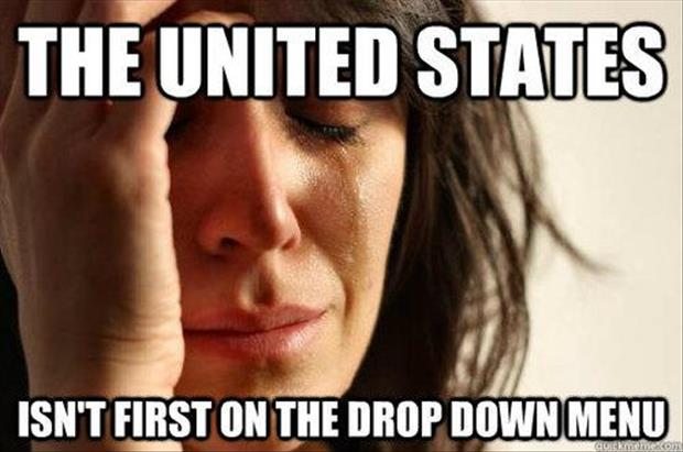 first world problems united states