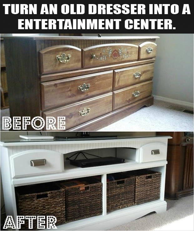 fun craft ideas with old dressers