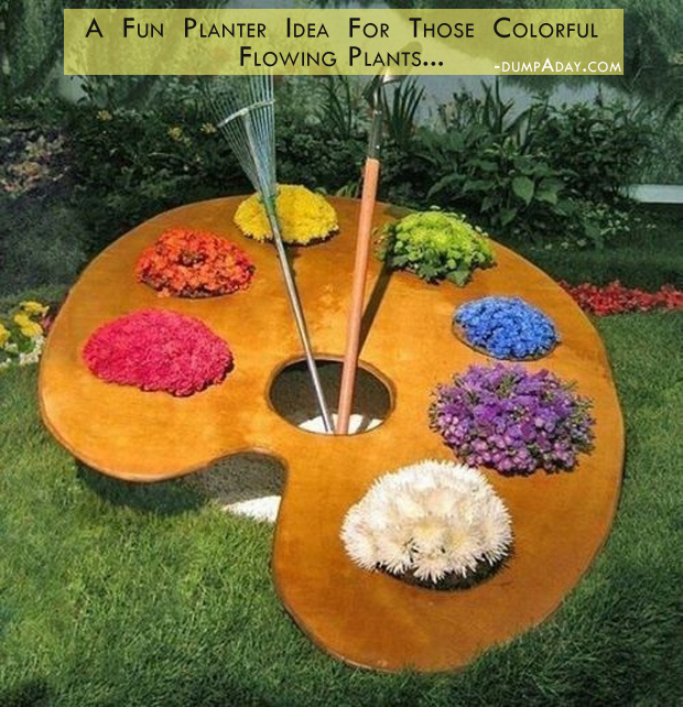 fun garden idea when you have colorful plants