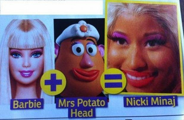 funny barbie faces