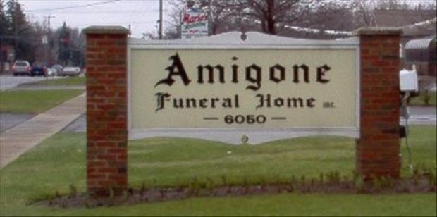 funny signs funeral home