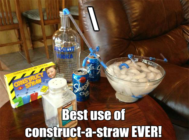 funny uses for construct a straw