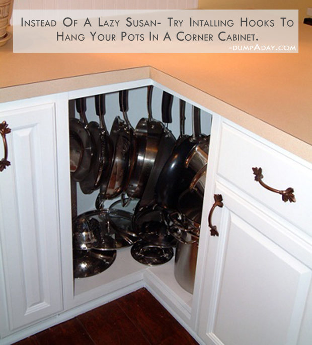 hang your pots and pans in the kitchen